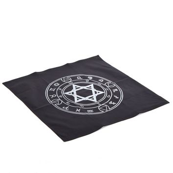 1pc Vintage Altar Tarot Tablecloth Retro Hexagram Pattern Rugs Wicca Wizard Cosplay Accessory