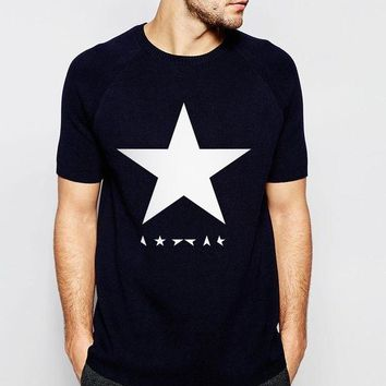 LMFLD1 2017 summer David Bowie black star men t shirts 100% cotton high quality streetwear casual hipster tops tees  brand t-shirt