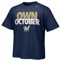 Nike Milwaukee Brewers Own October T-Shirt