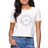 Kendall & Kylie Ringer Baby T-Shirt - Womens Tee - White -