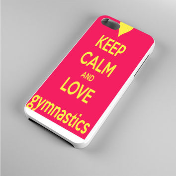 keep calm and love gymnastics Iphone 5s Case