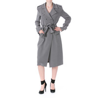 Thom Browne Womens Silk Crepe Trench Coat