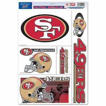 "SAN FRANCISCO 49ERS 11""X17"" ULTRA DECAL SHEET BRAND NEW  SHIPPING"