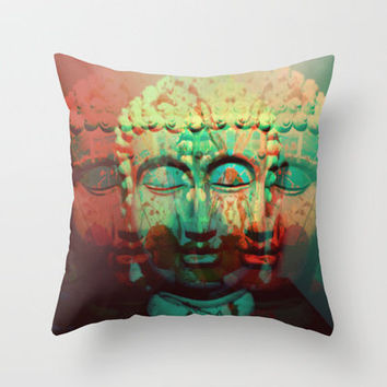 BUDDHA Throw Pillow by JONNYMELLOR | Society6