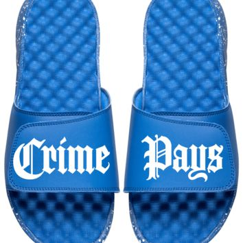 Crime Pays Unisex Slides Royal Speckle