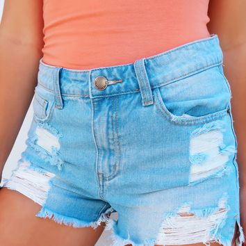 Up For Anything Shorts: Denim