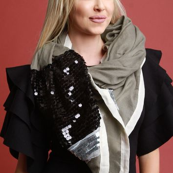 Dazzling Sequin Scarf