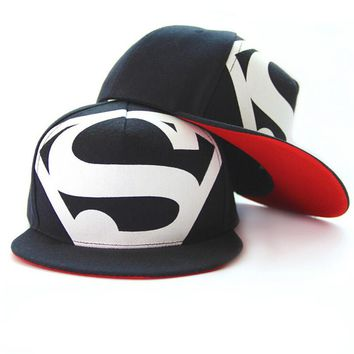 Hot! New Arrive Fashion Hip Hop Superman Snapback Caps Hats