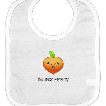 Everything is Peachy Baby Bib