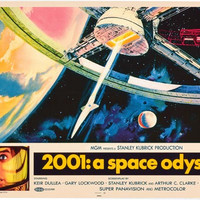 2001: A Space Odyssey Movie Art Poster 24x36
