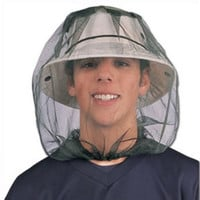 2016 New Midge Mosquito Insect Hat Bug Mesh Head Net Face Protector Travel Camping free shipping
