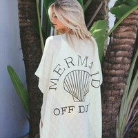 Mermaid Off Duty Yellow Kimono