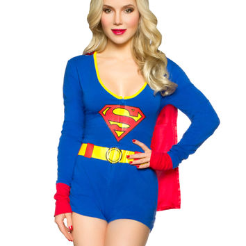 Supergirl Romper Womens Costume – Spirit Halloween