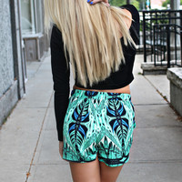 Turquoise and Caicos High Rise Shorts