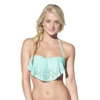 Xhilaration® Junior's Hanky Swim Top -Seafoam Green