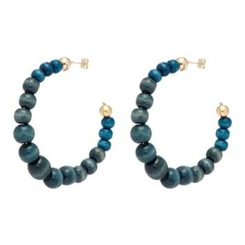 Rosantica | 'Inganno' gradient beaded hoop earrings | Women | Lane Crawford - Shop Designer Brands Online