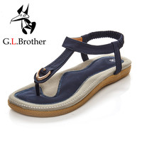 G.L.Brother Sandals Women 2017 Elegance Summer Shoes Sandalias Mujer Women Sandals Sandale Femme Women'S Sandals Ladies Flat