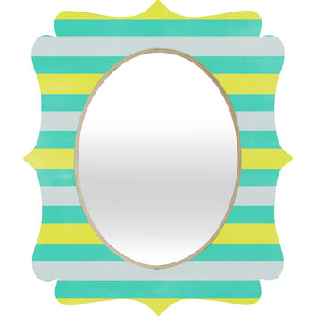 Allyson Johnson Bright Stripes Quatrefoil Mirror
