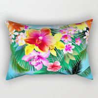 Tropical flowers Rectangular Pillow by Prints&pattern