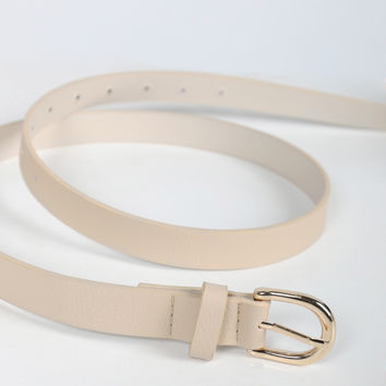 The Simple Leather Belt