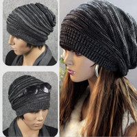Cool Unisex Adults Mens Womens Casual Knit Baggy Beanie Hat Winter Warm Oversized Ski Cap = 1958014852