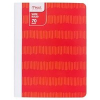 "Mead ® Composition Notebook, Wide Ruled, 70pgs, 7.5"" x 9.75"" - Pixelated Red : Target"