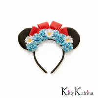 Classic Minnie Mouse Ears Headband, Disney Ears, Mouse Ears, Blue Minnie Mouse Ears, Disney Bound, Disney Headband, Disneyland, Disney World