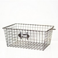 Set of Three Wire Storage Baskets - home office - house & home