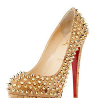 Christian Louboutin - Altipump Spike Cork Pumps - Bergdorf Goodman