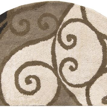 Surya Athena ATH5111 Neutral/Black Medallion and Damask Area Rug