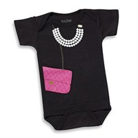 Chic Designer Bag & Pearls Bodysuit by Sara Kety  - Whimsical & Unique Gift Ideas for the Coolest Gift Givers