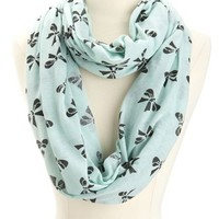 Bow Print Jersey Infinity Scarf: Charlotte Russe