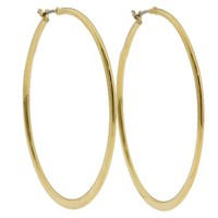 Betsey Johnson Knife Edge Hoop Earring