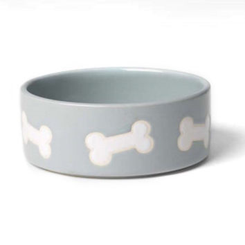 Stoneware Dog Bowl - Pale Aqua