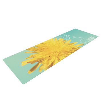 "Beth Engel ""You Are My Sunshine"" Teal Flower Yoga Mat"