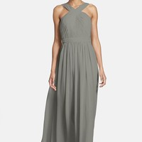 Women's Monique Lhuillier Bridesmaids Crisscross Chiffon Gown (Nordstrom Exclusive)