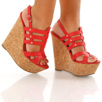 Spirit Of Summer Wedges: Red