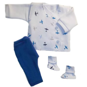 Baby Boys' Adorable Airplane Vest Suit