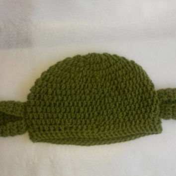 Crocheted Yoda Beanie Hat - Made to Order - Baby, toddler, child, teen, adult