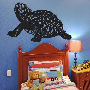 Vinyl Wall Decal Sticker Spotted Baby Turtle #5429