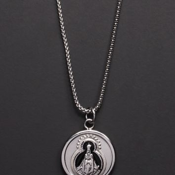 Stainless Steel Religious Medal Necklace