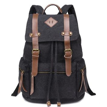 Student Backpack Children KUJING Fashion Backpack High-end Leather Large Capacity Student Backpack  Shipping Cheap Luxury Travel Canvas Youth Backpack AT_49_3