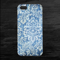 Blue Distressed Wallpaper iPhone 4 and 5 Case