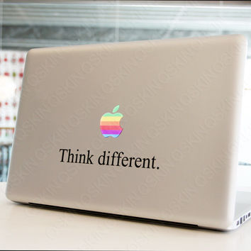 Think Different - MacBook Decal macbook air sticker macbook pro decal  1046