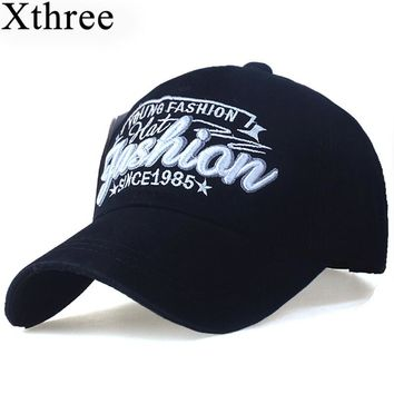 XTHREE fashion Letter embroidery men's cotton Baseball Cap women snapback hat Casual caps Summer Hat for men cap