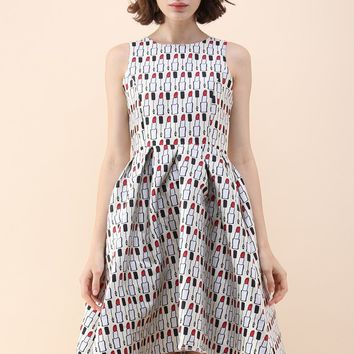 Makeup Fanatic Jacquard Waterfall Dress