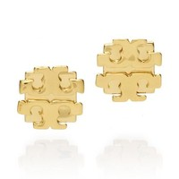 LARGE T LOGO STUD EARRING