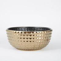 Studded Serveware, Bowl, Bronze