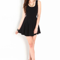 FLARED SKATER KNIT DRESS