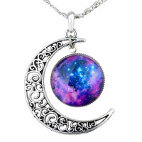 Law Of Attraction (LOA) Galaxy-Moon Pendant